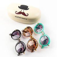 2015 New Baby Boys Girls Kids Sunglasses Vintage Round Sun Glasses UV 400 Children Sunglass  Oculos De Sol lunette de soleil