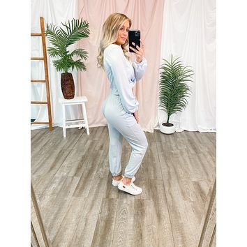 Lounge In Style Joggers (Pale Blue)FINAL SALE
