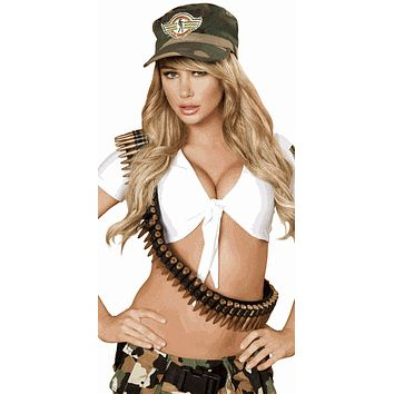 Sexy Army Bullet Bandolier Halloween Accessory