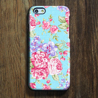 Elegant Blue Pink Floral iPhone 6s Case iPhone 6s Plus Case iPhone 6 Cover iPhone 5S 5 iPhone 5C iPhone 4s 4 Samsung Galaxy S6 Edge Galaxy s6 s5 s4 Galaxy Note 5 Note 4 Case 142