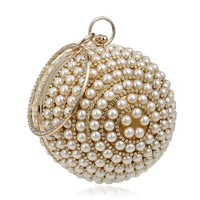 Beaded Ball Clutch Bag