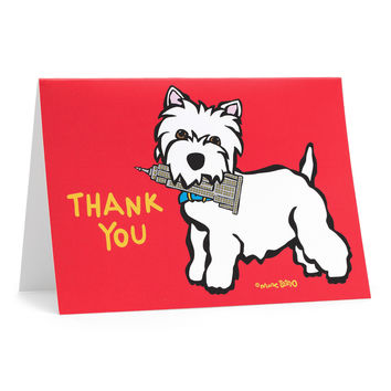 NYC Westie Thank You Cards