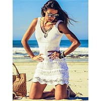 Knitting Crocheting Hollow Cover-Ups Swimwear