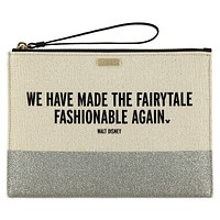 Disney Made the Fairytale Fashionable Again Canvas Glitter Clutch Kate Spade New