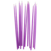 Tall Purple Hand Dipped Birthday Candles