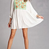 Velzera Floral Embroidered Tunic