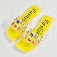 The casual candy color cool fashionable sandals