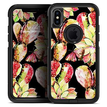 Watercolor Cactus Succulent Bloom V5 - Skin Kit for the iPhone OtterBox Cases