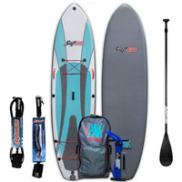 Inflatable Stand Up Paddle Board with Free Paddle and Leash | Length: 10'6"