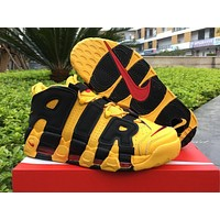 nike air more uptempo black yellow bruce lee 414962 700 us7 12
