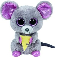 Ty Beanie Boos Squeaker The Mouse with Cheese Plush