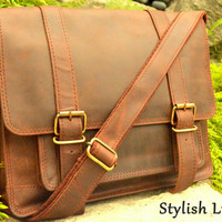 Messenger Bag Cross Body Elegant Style Genuine Distressed Cow Hide Leather Handcrafted Satchel Postman Tablet Bag