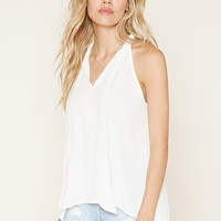 Tie-Neck Cutout Top | Forever 21 - 2000220278