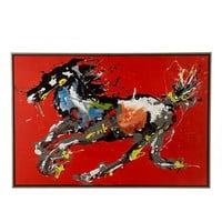 John-Richard Collection Running Horse Abstract