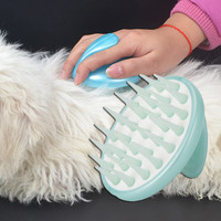 Dog Hair And Fur Remover Cat Bath Wash Pet silicone Head Massage Brush For Cleaning With Spray Bottle Soft and Comfortable