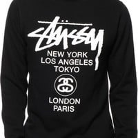 Stussy World Tour Crew Neck Sweatshirt