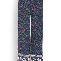 Elephant Escape Wide-Leg Pants