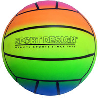 "9"" neon rainbow playground volleyball Case of 36"