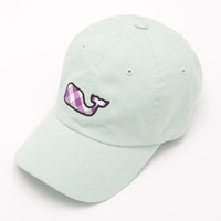 Shop Gingham Whale Applique Baseball Hat at vineyard vines