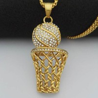 Basketball Pendant Necklaces