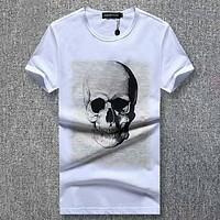 Philipp Plein  Men Fashion Casual Letter Print Shirt Top Tee