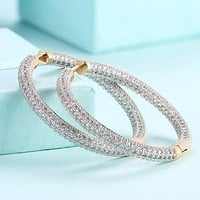 Swarovski Elements Micro Pave' Hoop Earrings