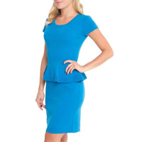 Nine West Womens Seaside Knit Knee-Length Wear to Work Dress