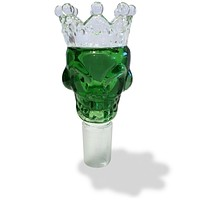 19mm Male Green Skull Crown Herb Holder