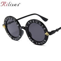 RILIXES Newest Retro Round Sunglasses Women Brand Designer Vintage Gradient Shades Sun Glasses UV400 Oculos Feminino Lentes