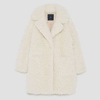 TEXTURED CURL KNIT COAT : 1 of 3
