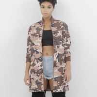 OFF DUTY Camo Anorak Jacket in Wine at FLYJANE