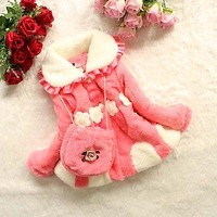 Kids Coats Baby Toddlers Girls Lined Coat Kids Winter Warm Jacket Outwear Cotton Clothes For 1-5 Years