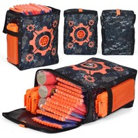 Oxford Cloth Target Pattern Shooting Practice Pouch Refill Clip Darts Bullets Bag Storage Carrying Case for Nerf Toy Gun