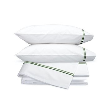 Essex Green Embroidered Hotel Sheet Set by Matouk