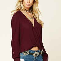 Contemporary High-Low Wrap Top