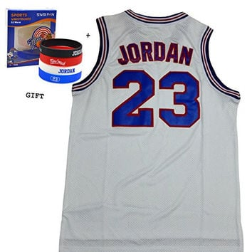 Youth Jordan 23 Space Jam Jersey Basketball Jersey Include Free Themed Wristbands Gift