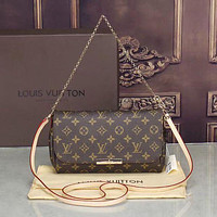 LV Louis Vuitton Popular Women Shopping Bag Monogram Leather Satchel Shoulder Bag Handbag Crossbody I/A