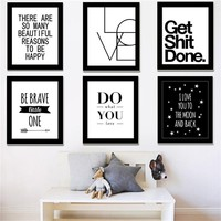2016 New Canvas Art Print Modern KARA Letter Gossip Quote Painting Wall Pictures Wall Decor Home Decoration No include Frame