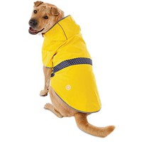 Good2Go Reversible Dog Raincoat in Yellow, Extra Large | Petco