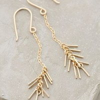 Spiked Strand Earrings by Marida Gold One Size Earrings