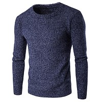 Sweaters For Men Solid Color Vintage Men Cashmere Sweaters Pullover High Quality Men Clothes