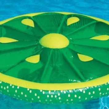 Swimline 60-Inch Inflatable Heavy-Duty Swimming Pool Lime Slice Float | 9054G