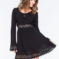 Metal Mulisha Wednesday Dress Black  In Sizes