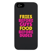 Fries Before Guys Food Before Dudes iPhone 5 Case> Fries Before Guys Food Before Dudes> Diamond Images Design