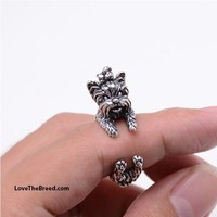 Yorkshire Terrier Wrap Around 3D Ring