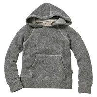 Heather Gray Terry Organic Hooded Pullover - Infant