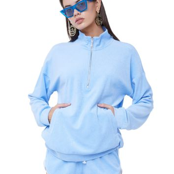 MICROTERRY HALF ZIP PULLOVER