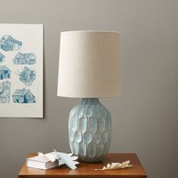 Linework Table Lamp - Blue