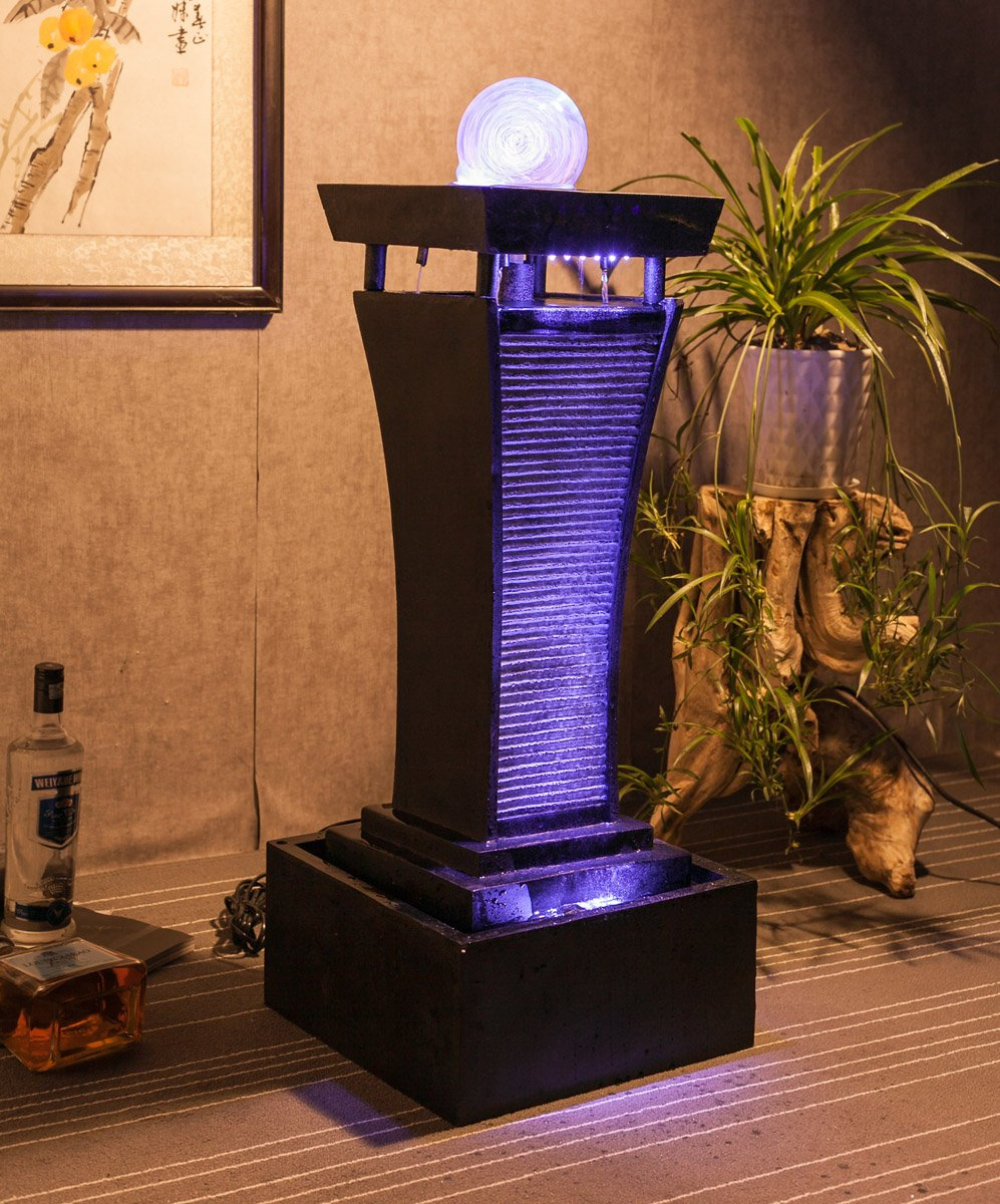Image of Modern Living Room Water Fountain