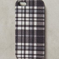 Neutral Plaid iPhone 5 Case by Anthropologie Black & White One Size Jewelry